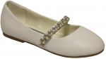GIRLS BALLERINAS (2242445) WHITE SMOOTH
